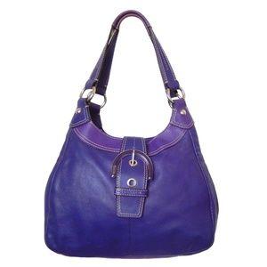 Coach Soho Lynn Purple Leather Shoulder Bag